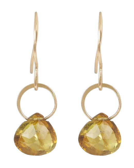 Melissa Joy Manning | Metallic Small Gold And Tourmaline Drop Earrings | Lyst