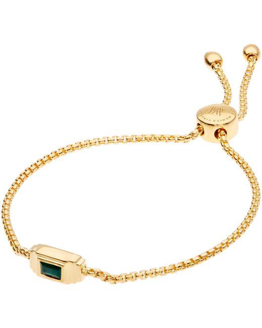 Monica Vinader - Metallic Gold-plated Green Onyx Baja Deco Bracelet - Lyst