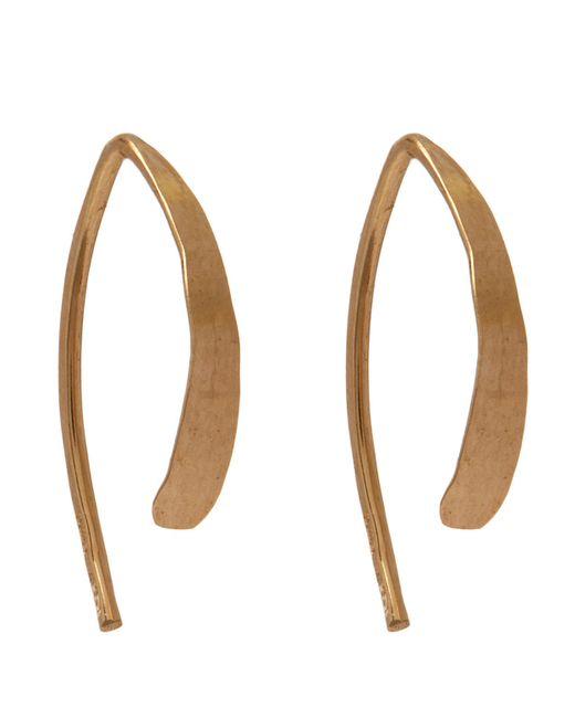 Melissa Joy Manning - Metallic Small Wishbone Hoop Earrings - Lyst