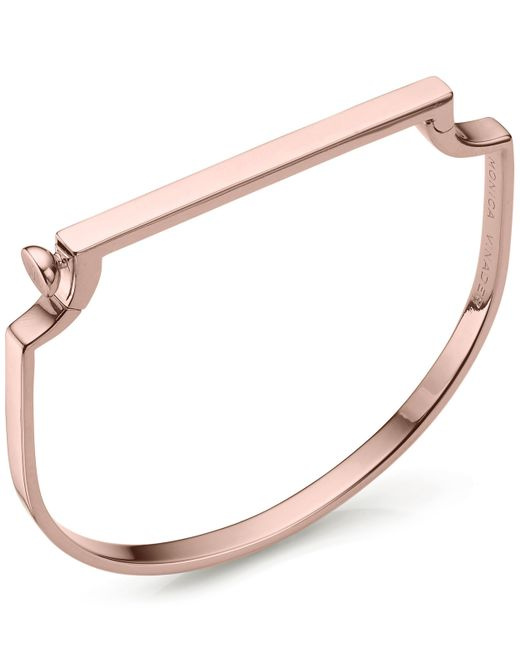 Monica Vinader - Multicolor Signature Rose Gold-plated Thin Bangle - Lyst