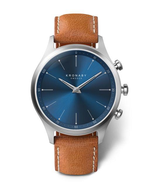 Kronaby - Sekel Sunray Blue Dial Tan Strap Smart Watch for Men - Lyst