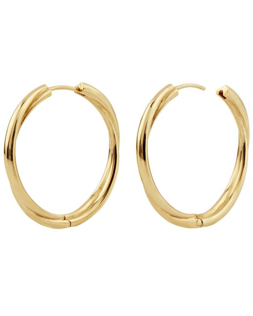 Dinny Hall Metallic Gold Vermeil Twist Click Hoop Earrings