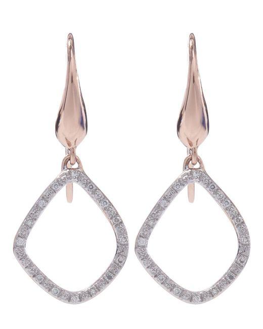 Monica Vinader - Multicolor Gold-plated Diamond Riva Kite Earrings - Lyst