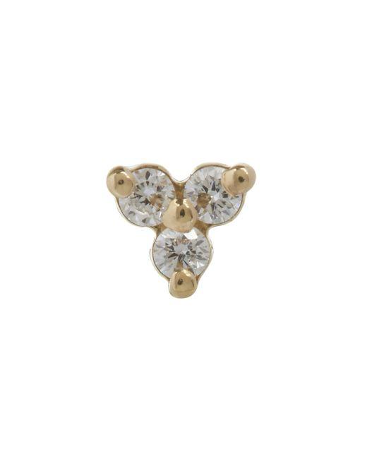 Maria Tash Metallic Diamond Trinity Threaded Stud Earring