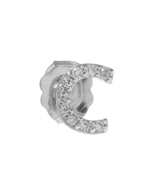 KC Designs - White Rose Gold Diamond C Single Stud Earring - Lyst