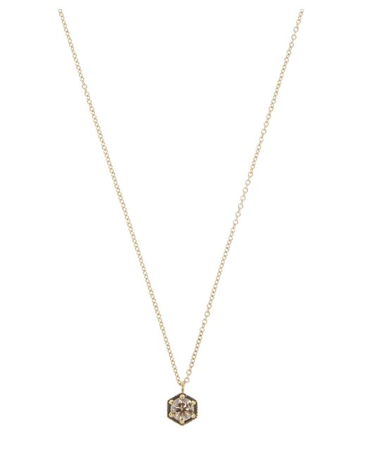 Satomi Kawakita - Metallic Brown Diamond Hexagon Necklace - Lyst