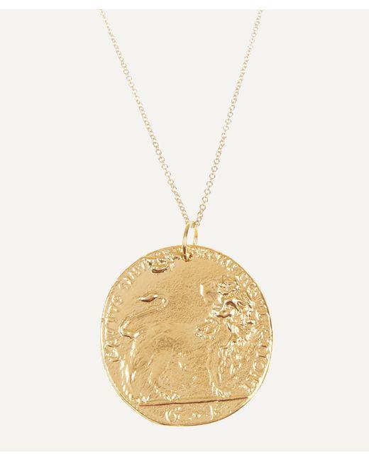 Alighieri Metallic Gold-plated Il Leone Medallion Necklace