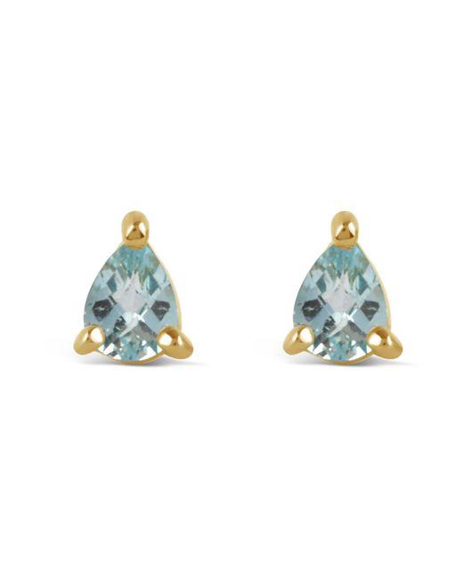 Dinny Hall - Metallic Gold-plated Gem Drops Sky Blue Topaz Pear Stud Earrings - Lyst