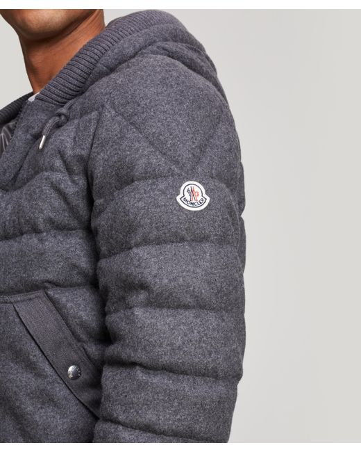 8896f9a6358e Lyst - Moncler Renoir Quilted Wool And Cashmere-blend Jacket in Gray ...