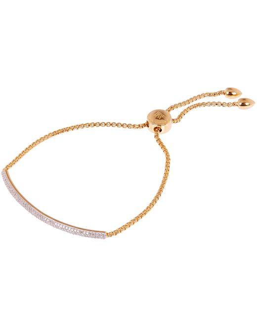 Monica Vinader - Metallic Gold Vermeil Fiji Mini Diamond Bar Bracelet - Lyst