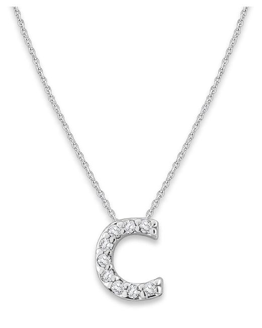 KC Designs | Metallic 14k Gold And Diamond Lowercase Initial Necklace, C | Lyst