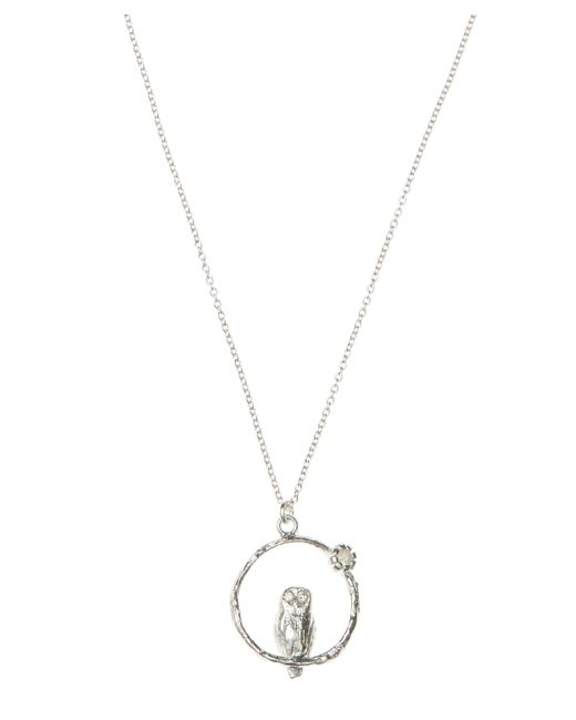 Alex Monroe - Metallic Silver Owl Moonstone Necklace - Lyst