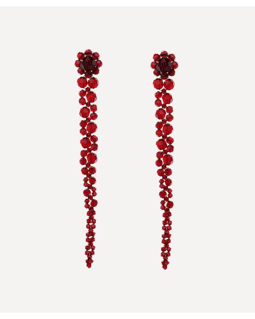 Simone Rocha Red Drop Earrings