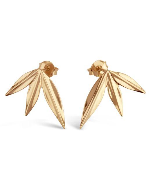 Dinny Hall - Metallic Gold-plated Lotus Triple Petal Stud Earrings - Lyst