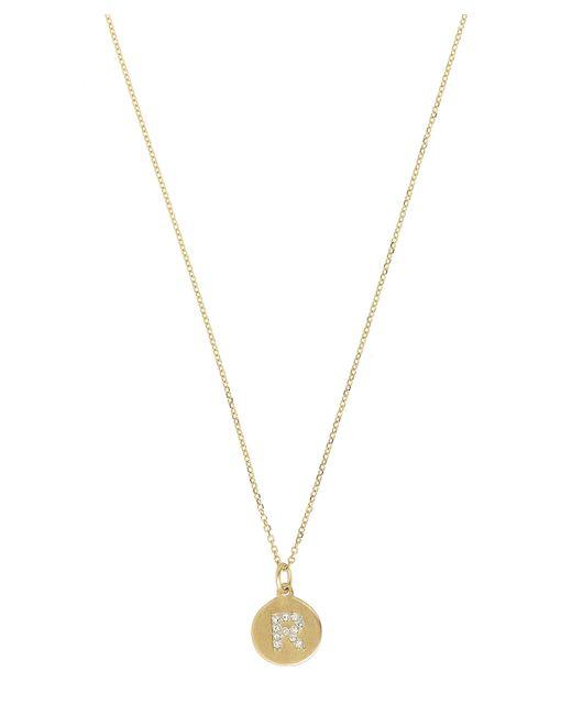 KC Designs | Metallic Gold And Diamond Letter R Disc Pendant Necklace | Lyst