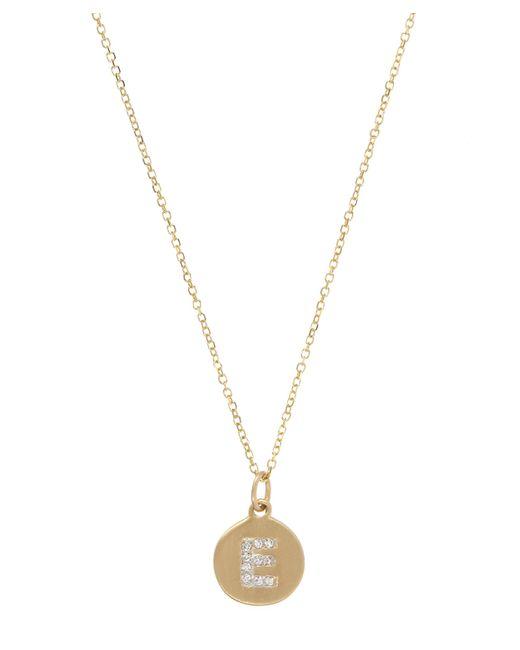 KC Designs - Metallic Gold And Diamond Letter E Disc Pendant Necklace - Lyst