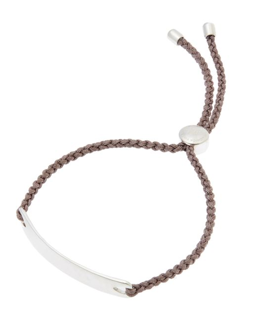 Monica Vinader - Metallic Silver Mink Cord Havana Friendship Bracelet - Lyst