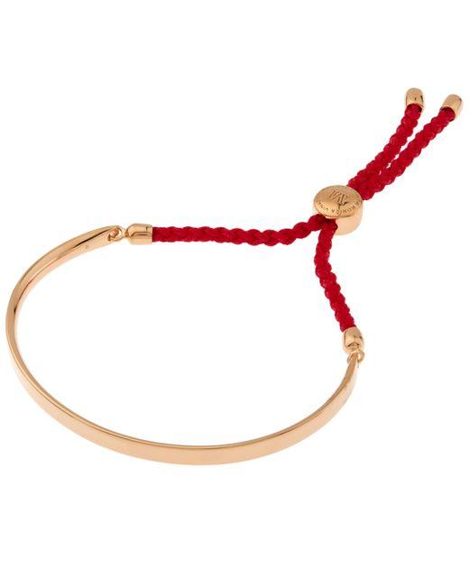 Monica Vinader - Metallic Rose Gold Vermeil Coral Cord Fiji Bracelet - Lyst