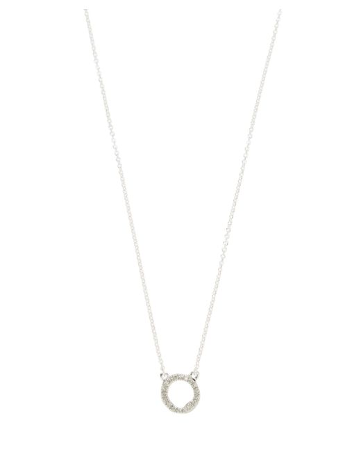 Monica Vinader - Metallic Sterling Silver Riva Mini Circle Necklace - Lyst