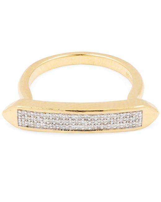 Monica Vinader - Metallic Gold Vermeil Baja Skinny Diamond Ring - Lyst