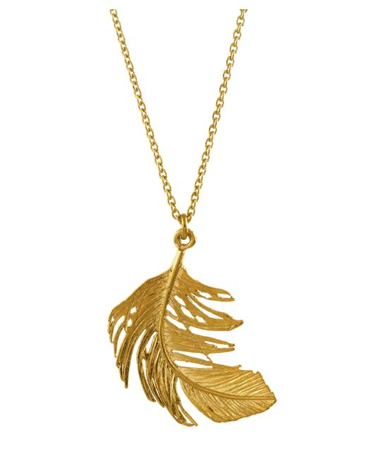 Alex Monroe - Metallic Large Feather Necklace - Lyst