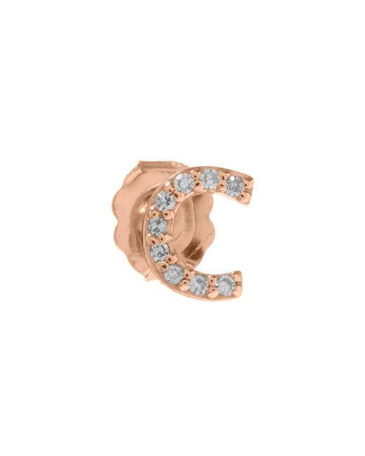 KC Designs - Multicolor Rose Gold Diamond C Single Stud Earring - Lyst