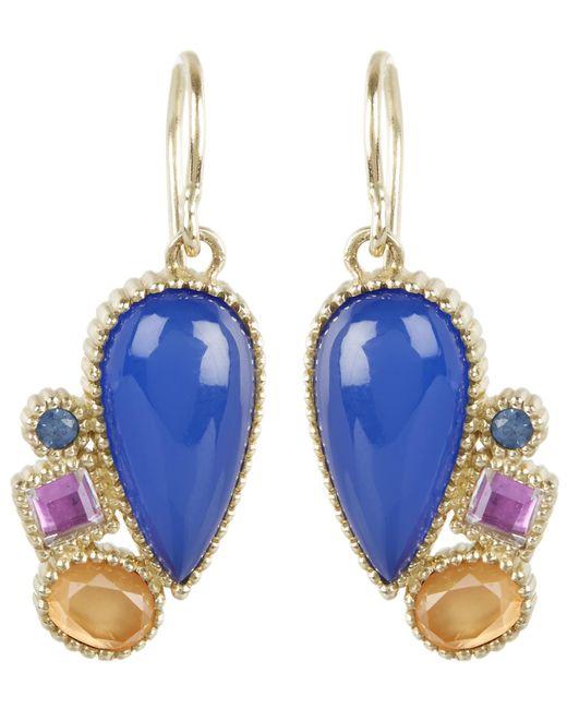 Larkspur & Hawk   Blue Gold Cora Cluster Drop Earrings   Lyst
