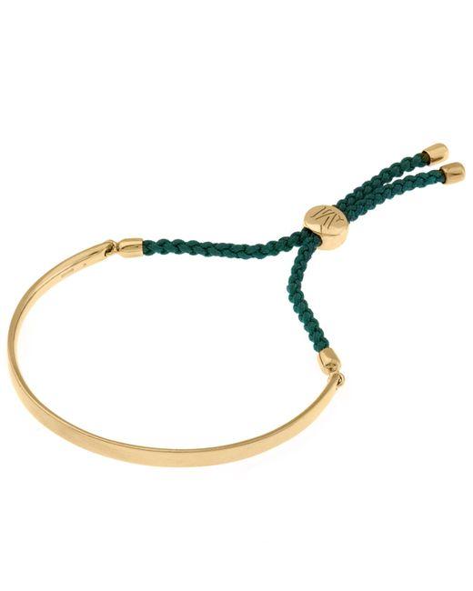 Monica Vinader - Metallic Gold Vermeil Green Cord Fiji Bracelet - Lyst