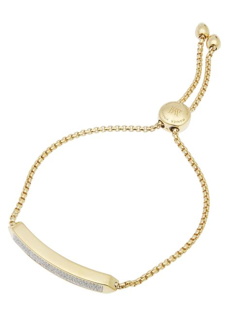 Monica Vinader - Metallic Baja Chain Diamond Bracelet - Lyst