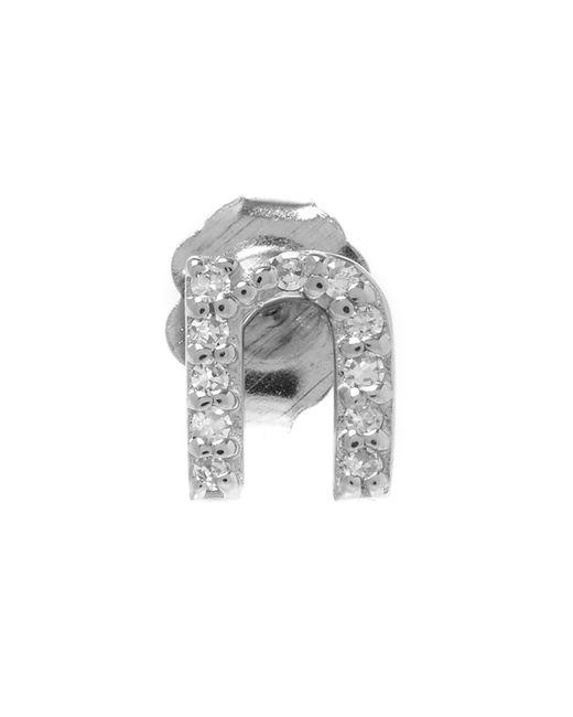 KC Designs - White Rose Gold Diamond N Single Stud Earring - Lyst