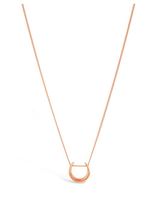 Dinny Hall | Metallic Rose Gold-plated Toro Small Slider Pendant Necklace | Lyst
