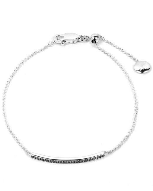 Monica Vinader - Metallic Diamond Short Skinny Bar Bracelet - Lyst