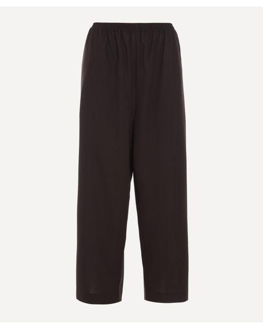 Eskandar Black Stretch-wool Japanese Trousers