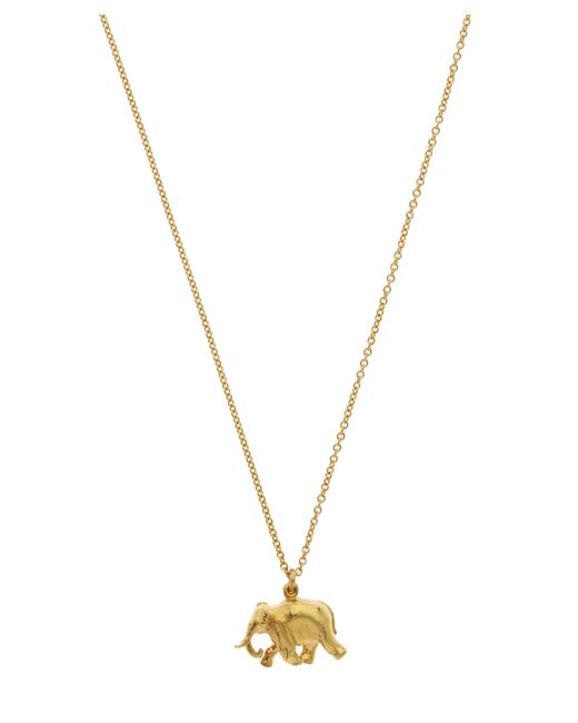 Alex Monroe   Metallic Gold-plated Indian Elephant Pendant Necklace   Lyst