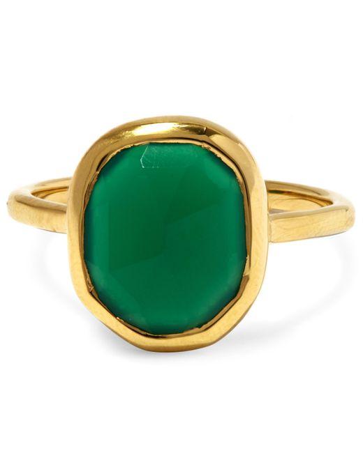 Monica Vinader - Metallic Gold-plated Green Onyx Medium Siren Stacking Ring - Lyst