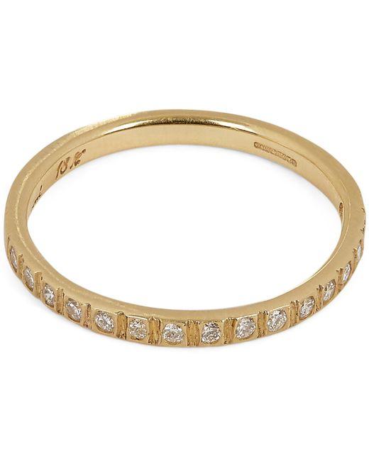 Satomi Kawakita - Metallic Gold White Diamond Half Eternity Ring - Lyst