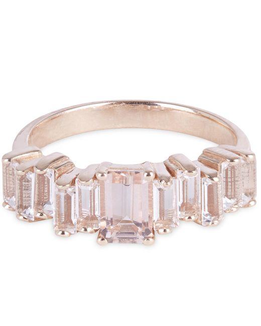 Suzanne Kalan   Multicolor Rose Gold Morganite Topaz Ring   Lyst