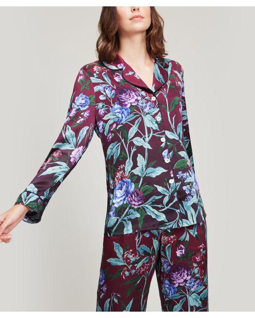 Liberty Pink Desert Rose Silk Satin Pyjama Set
