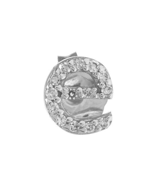 KC Designs - White Rose Gold Diamond E Single Stud Earring - Lyst