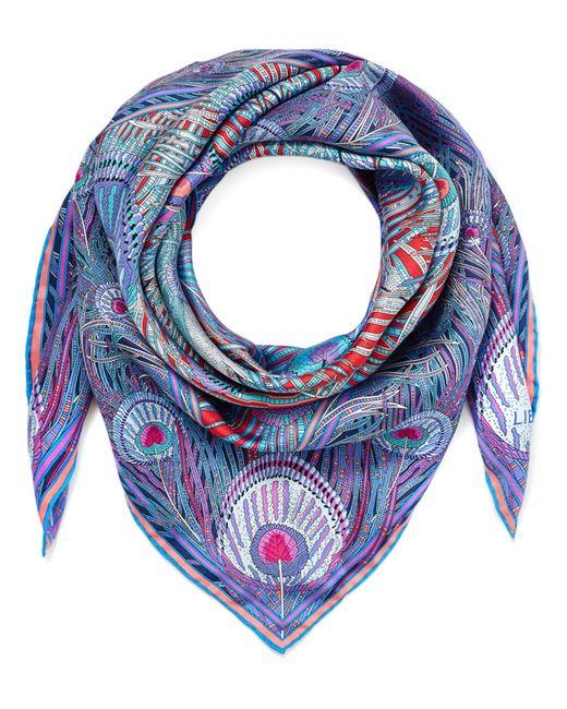 Liberty - Blue Hera 90 X 90 Silk Twill Scarf - Lyst