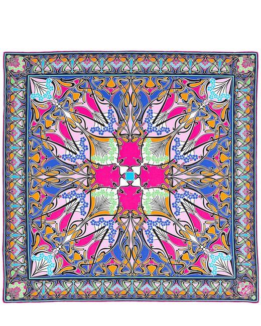 Liberty Pink New Ianthe 70x70 Silk Scarf