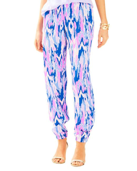 Lilly Pulitzer   Blue Saffron Printed Pant   Lyst