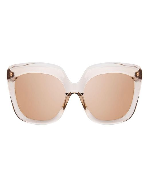 Linda Farrow Multicolor 556 C5 Oversized Sunglasses