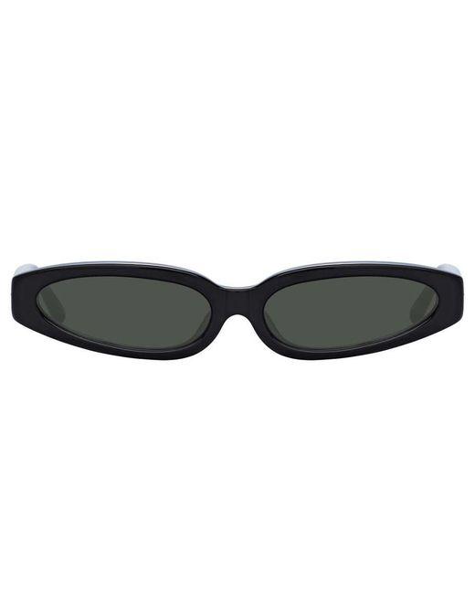 Linda Farrow Multicolor Jardine C1 Angular Sunglasses