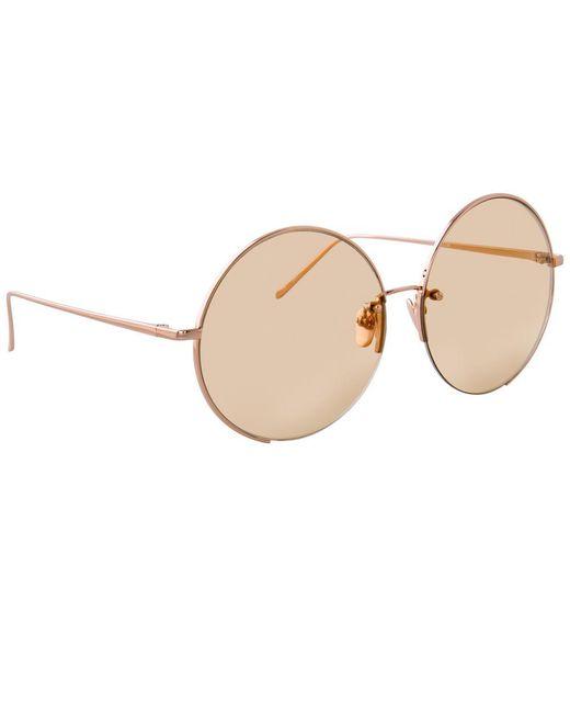 Linda Farrow Multicolor 626 C7 Round Sunglasses