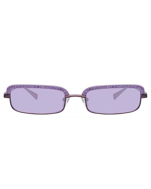 The Attico Dana Rectangular Sunglasses In Purple