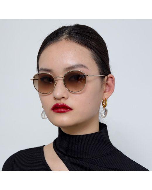 Linda Farrow Multicolor Marlon Oval Sunglasses