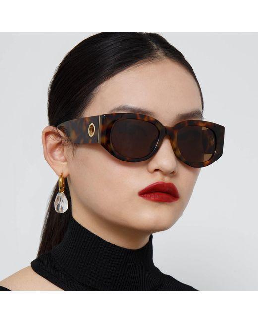 Linda Farrow Black Debbie D-frame Sunglasses