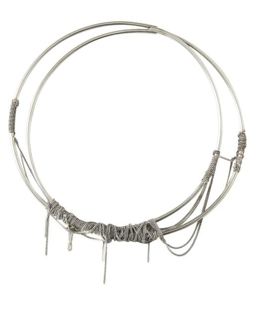 Ann Demeulemeester - Metallic Multichained Silver Necklace - Lyst