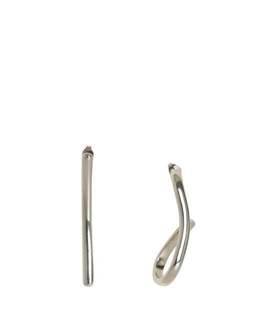 Maison Margiela - Metallic Silver Earrings - Lyst